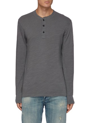 Main View - Click To Enlarge - RAG & BONE - Cotton henley T-shirt