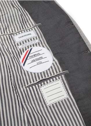 Detail View - Click To Enlarge - THOM BROWNE - x Lane Crawford hand embroidered rib trim suit