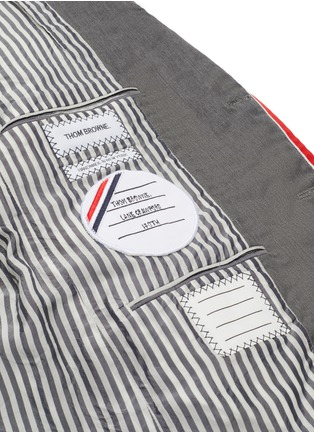 Detail View - Click To Enlarge - THOM BROWNE - x Lane Crawford hand embroidered bicolour trim suit