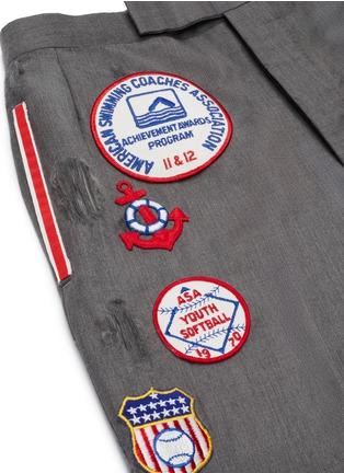- THOM BROWNE - x Lane Crawford hand embroidered bicolour trim suit