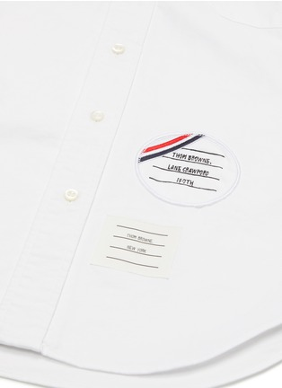 Detail View - Click To Enlarge - THOM BROWNE - x Lane Crawford hand embroidered patch shirt