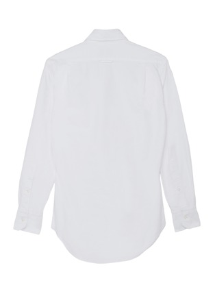 Back View - Click To Enlarge - THOM BROWNE - x Lane Crawford hand embroidered patch shirt