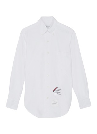 Main View - Click To Enlarge - THOM BROWNE - x Lane Crawford hand embroidered patch shirt