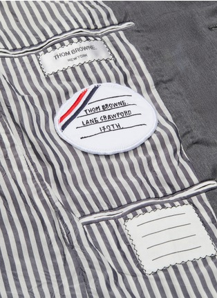Detail View - Click To Enlarge - THOM BROWNE - x Lane Crawford hand embroidered contrast trim suit