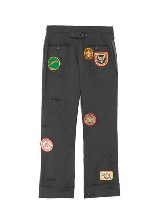 - THOM BROWNE - x Lane Crawford hand embroidered rib trim suit