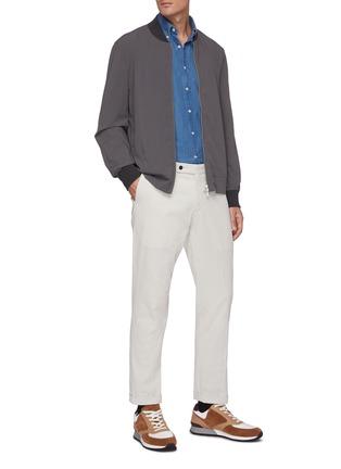 Figure View - Click To Enlarge - BRUNELLO CUCINELLI - Medium wash denim shirt