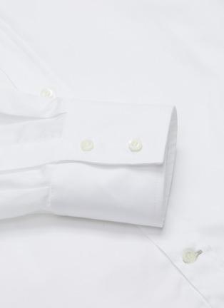 - BRUNELLO CUCINELLI - Spread collar cotton twill shirt