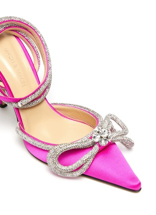 Detail View - Click To Enlarge - MACH & MACH - Double crystal bow satin pumps