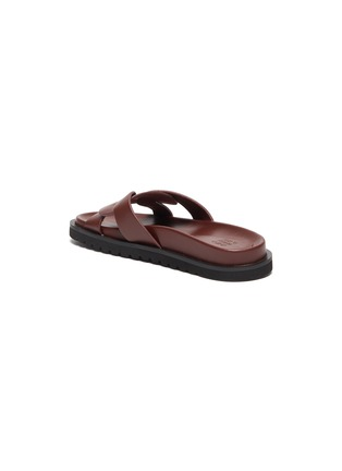 - PEDDER RED - 'CAMILLE' Intertwine Loop Leather Flat Slides