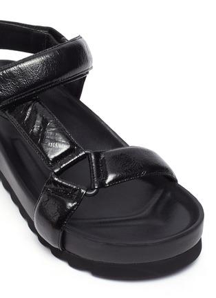 Detail View - Click To Enlarge - PEDDER RED - Cecile' Crinkle Leather Strap Platform Sandals
