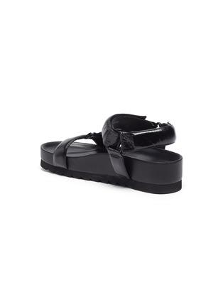- PEDDER RED - Cecile' Crinkle Leather Strap Platform Sandals