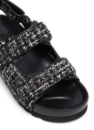 Detail View - Click To Enlarge - PEDDER RED - 'Fiona' tweed platform sandals