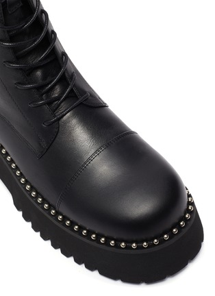 Detail View - Click To Enlarge - PEDDER RED - 'COOPER' Pearl Welt Tread Sole Leather Combat Boots