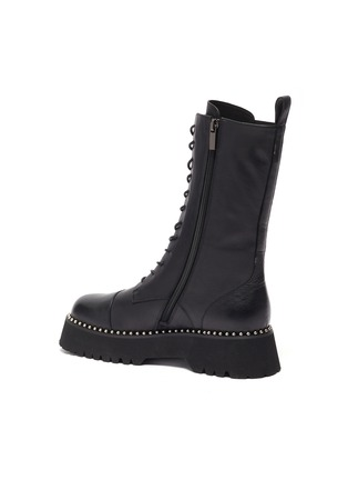 - PEDDER RED - 'COOPER' Pearl Welt Tread Sole Leather Combat Boots