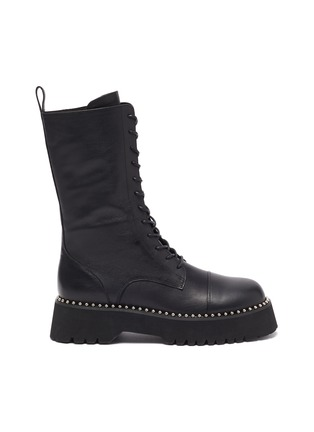 Main View - Click To Enlarge - PEDDER RED - 'COOPER' Pearl Welt Tread Sole Leather Combat Boots