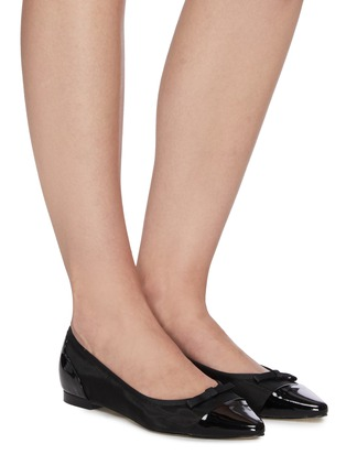 Figure View - Click To Enlarge - PEDDER RED - SAMMIE' Patent Leather Cap Toe Mesh Flats