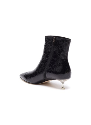 - PEDDER RED - KIARA' Point Toe Heel Patent Leather Ankle Boots