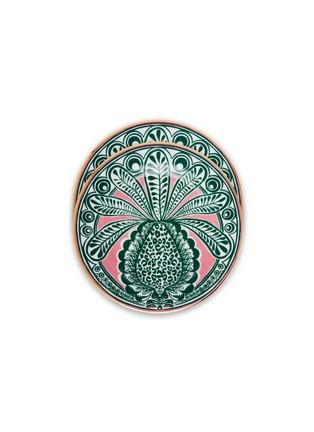 Main View - Click To Enlarge - LA DOUBLEJ - x Ancap Dessert Plate Set – Big Pineapple Fuxia