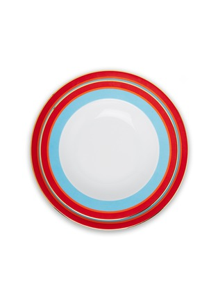 Main View - Click To Enlarge - LA DOUBLEJ - Soup and Dinner Plates Set – Rainbow Azzurro