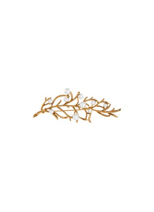 Main View - Click To Enlarge - KENNETH JAY LANE - Pearl embellished branch pin