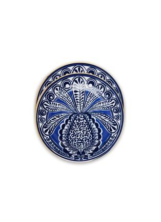 Main View - Click To Enlarge - LA DOUBLEJ - x Ancap Dessert Plate Set – Big Pineapple Blu