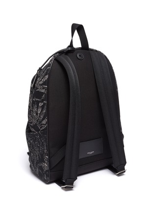 Detail View - Click To Enlarge - SAINT LAURENT - 'City' palm print backpack