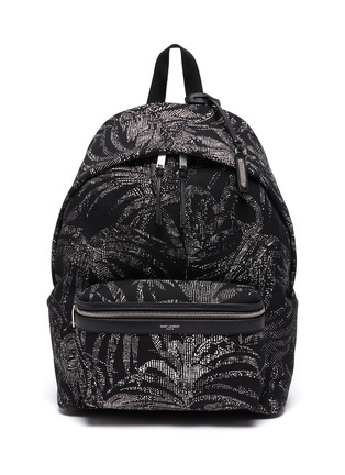 Main View - Click To Enlarge - SAINT LAURENT - 'City' palm print backpack