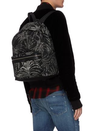 Figure View - Click To Enlarge - SAINT LAURENT - 'City' palm print backpack