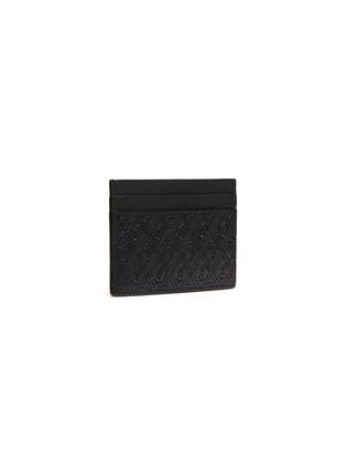 Figure View - Click To Enlarge - SAINT LAURENT - Monogram embossed leather cardholder