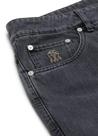 - BRUNELLO CUCINELLI - Logo Embroidered Pocket Slim Fit Denim Jeans