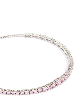 Detail View - Click To Enlarge - CZ BY KENNETH JAY LANE - Graduate Cubic Zirconia Shamballa Bracelet
