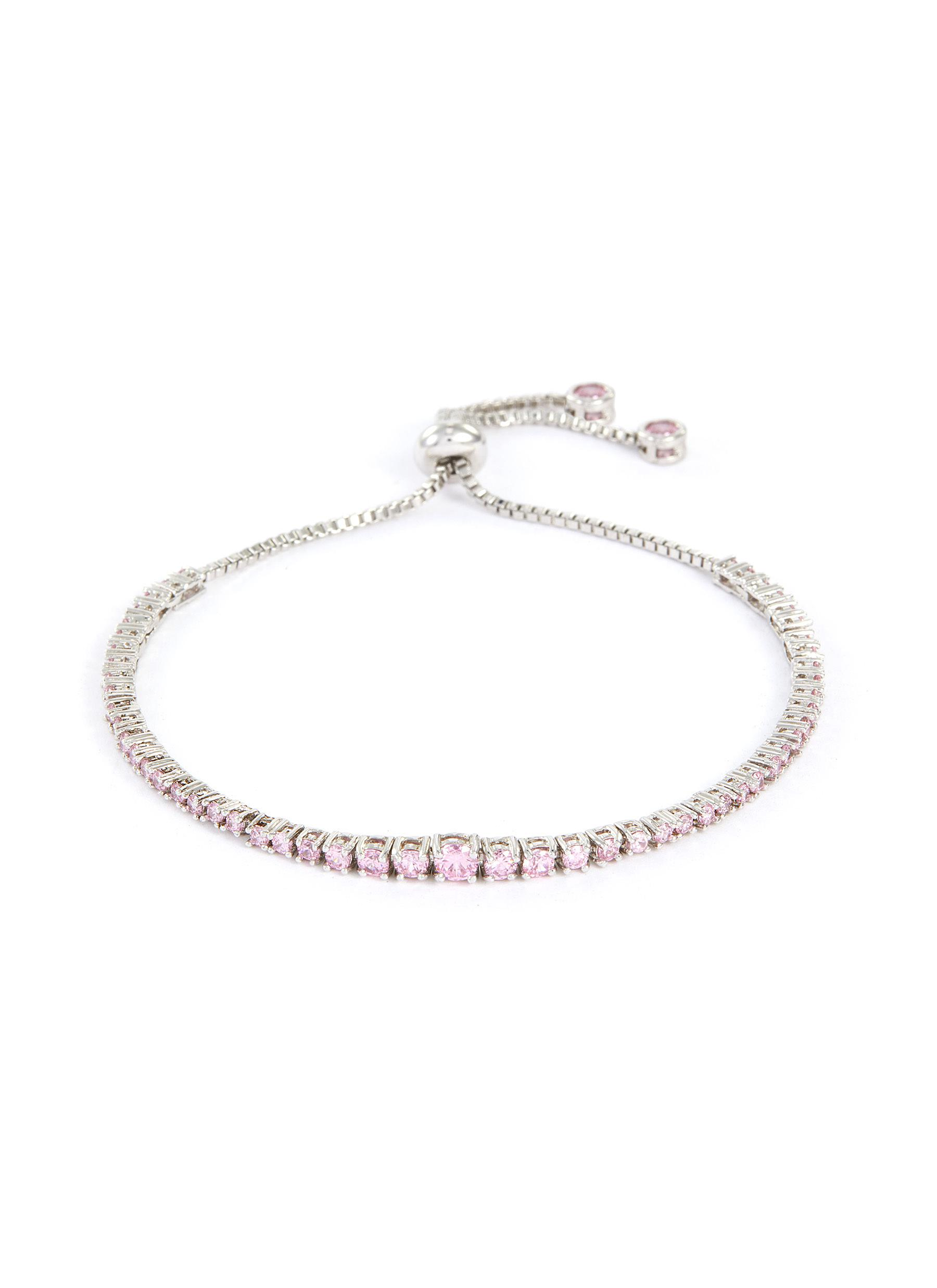 Graduate Cubic Zirconia Shamballa Bracelet