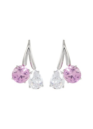 Main View - Click To Enlarge - CZ BY KENNETH JAY LANE - Double Cubic Zirconia Drop Earrings