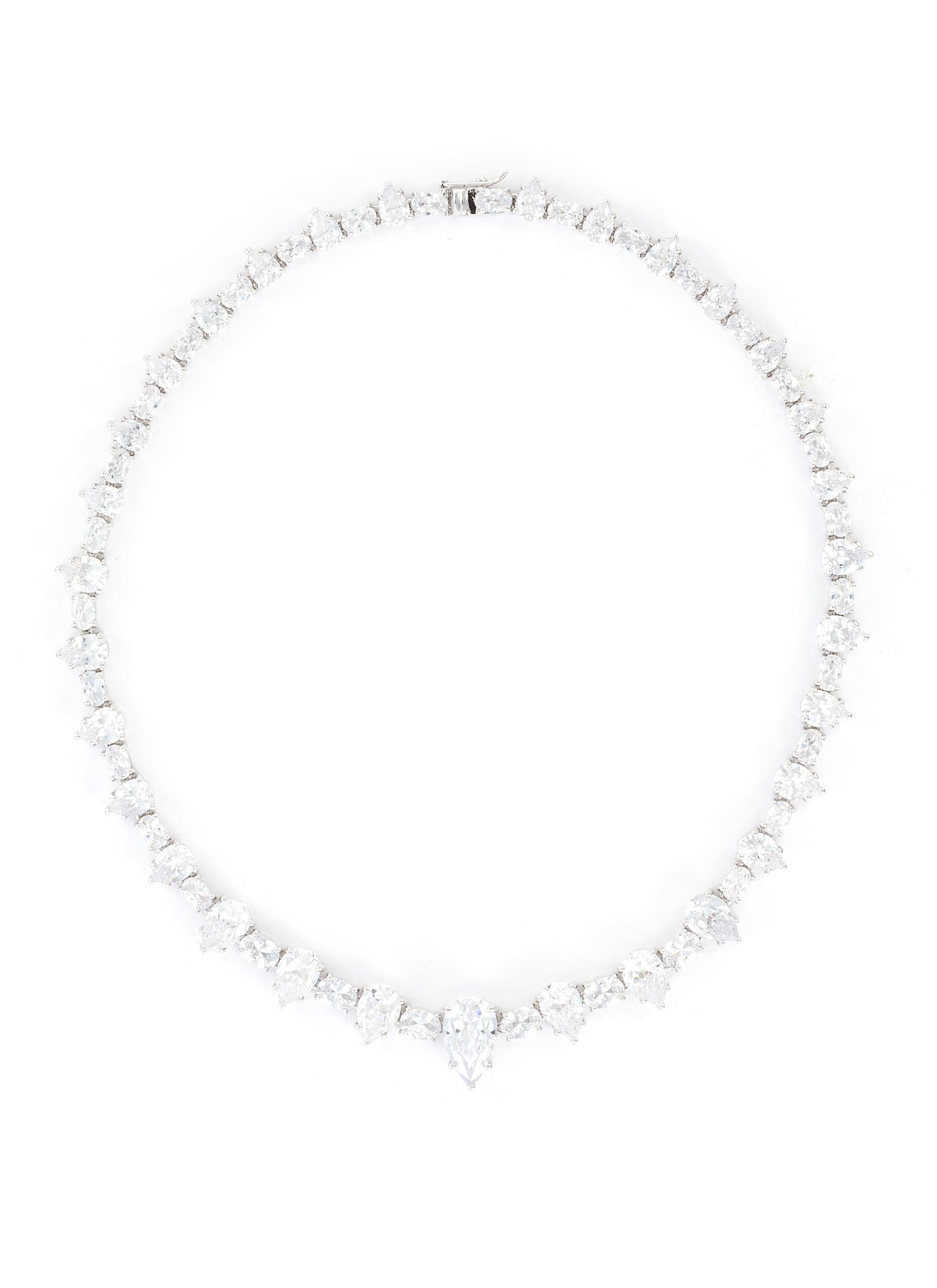 Alternating Cut Cubic Zirconia Riviere Necklace