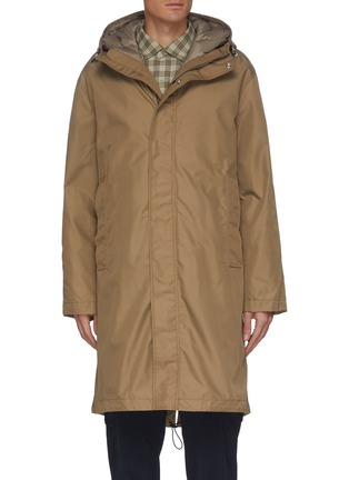 Main View - Click To Enlarge - THEORY - 'ALVIN ST VERSA' Detachable Down Inner-layer Coat