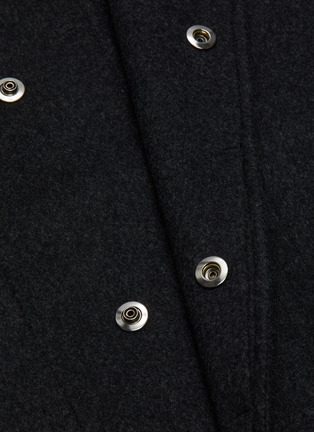 - THEORY - 'DUTTON DF COOL' Hooded Cashmere Wool Blend Long Coat
