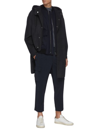 Figure View - Click To Enlarge - THEORY - 'DUTTON DF COOL' Hooded Cashmere Wool Blend Long Coat