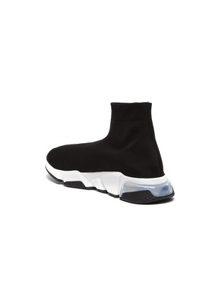 - BALENCIAGA - 'Speed' Clear Sole nit Slip On Sneakers