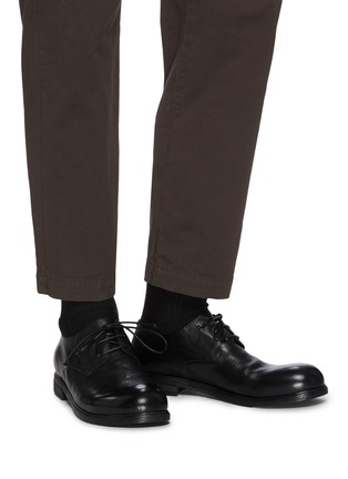 Figure View - Click To Enlarge - MARSÈLL - Leather derby shoes