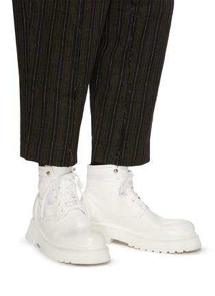 Figure View - Click To Enlarge - MARSÈLL - Micarro' Leather Combat Boots