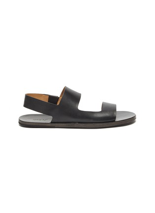 Main View - Click To Enlarge - MARSÈLL - 'Sandellone' Double Strap Leather Sandals