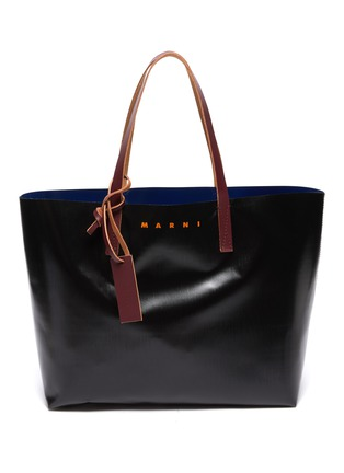 Main View - Click To Enlarge - MARNI - Logo print PVC tote
