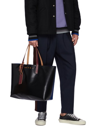 Figure View - Click To Enlarge - MARNI - Logo print PVC tote