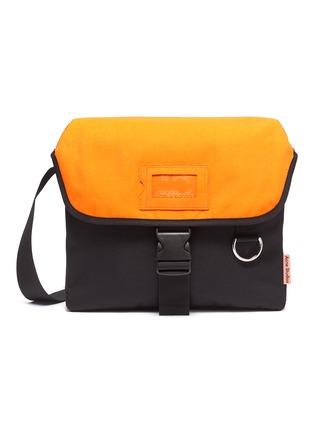 Main View - Click To Enlarge - ACNE STUDIOS - Contrast Flap Release Buckle Closure Crossbody Messenger Bag