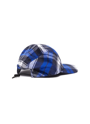 Figure View - Click To Enlarge - ACNE STUDIOS - Check print face patch baseball cap