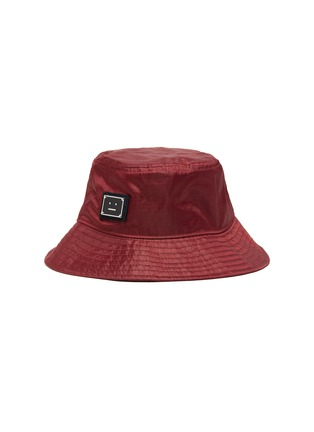 Main View - Click To Enlarge - ACNE STUDIOS - Face Plaque Nylon Bucket Hat