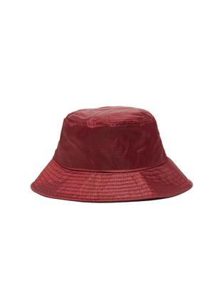 Figure View - Click To Enlarge - ACNE STUDIOS - Face Plaque Nylon Bucket Hat