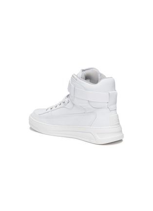- ACNE STUDIOS - Ankle Strap High Top Leather Sneakers