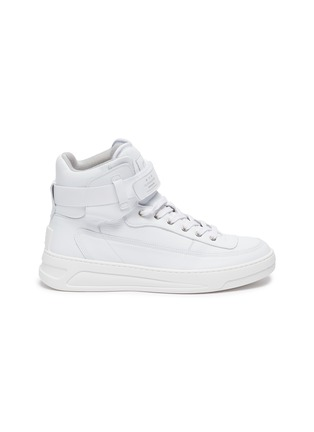 Main View - Click To Enlarge - ACNE STUDIOS - Ankle Strap High Top Leather Sneakers