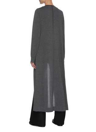 Back View - Click To Enlarge - THE ROW - 'Bayo' Open Front Cashmere Silk Blend Long Coat